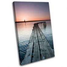 Jetty Lake Sunset Seascape - 13-0289(00B)-SG32-PO